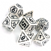 White & Black Runic Dice Set